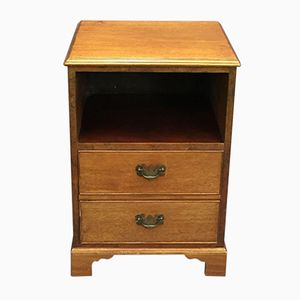 Vintage Mahogany Bedside Table, 1930s