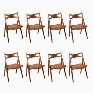 Mid-Century CH29 Sawbuck Dining Chairs by Hans Wegner for Carl Hansen, Set of 8