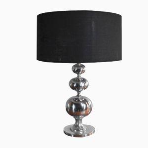 Large Chrome Table Lamp, 1970s