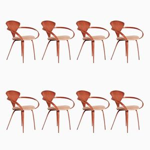 Dining Chairs by Norman Cherner for Plycraft 1960s Set of 8  Vintage  Walnut