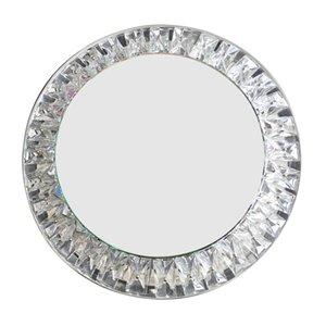 Großer Runder Beleuchteter Kristallglas Wandspiegel von Kinkeldey, 1960er