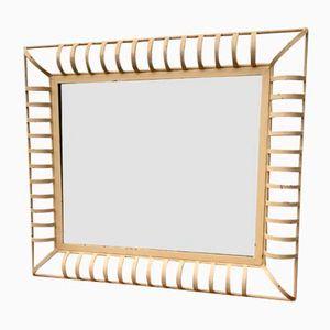 Industrieller Rechteckiger Vintage Wanspiegel mit Metallrahmen