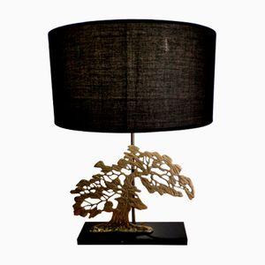 Mid-Century Bonzai Lamp in Golden Brass