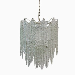 Mid-Century Glass Chandelier by Paolo Venini for Venini, 1960s