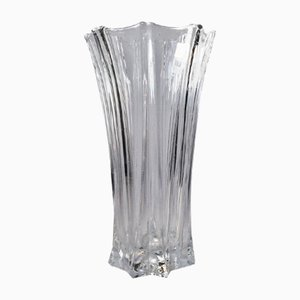 French Art Deco Glass Vase by Pierre D'avesn, 1940s
