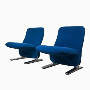 Postmodern Concorde Lounge Chairs by Pierre Paulin for Artifort, 1960s, Set of 2