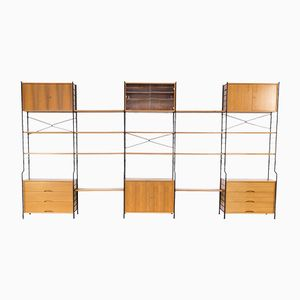 Teak and Metal Wall Unit from WHB, 1970s