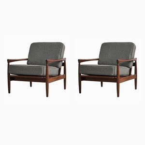 Scandinavian Armchairs by Erik Worts, 1960s, Set of 2