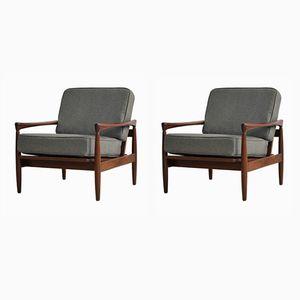 Skandinavische Sessel von Erik Worts, 1960er, 2er Set