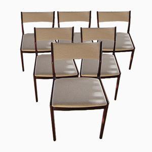 Sedie da pranzo in palissandro di Johannes Andersen per Uldum Møbelfabrik, anni '60, set di 6