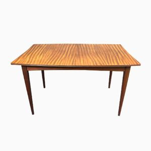 Teak Table with Compass Legs, 1970s
