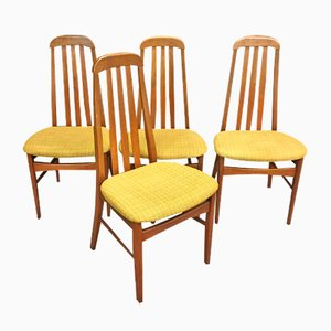 Teak Chairs, 1970s, Set of 4