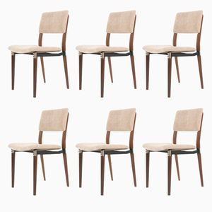 Model S82 Chairs by Eugenio Gerli for Tecno, 1960s, Set of 6