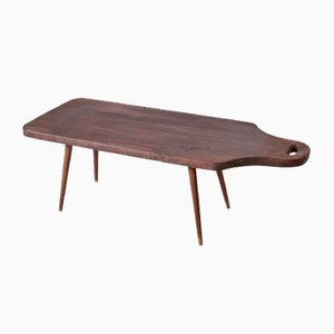 DIY Beech Side Table, 1950s