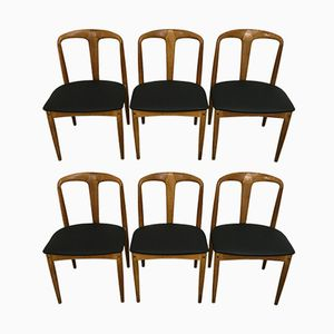 Oak Dining Chairs by Johannes Andersen for Uldum, 1960s, Set of 6