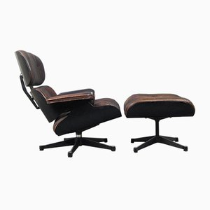 Vintage 670 Lounger and 671 Ottoman by Charles and Ray Eames for Vitra