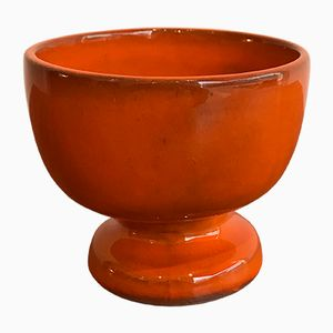 Orange Ceramic Bowl by Jacques & Dani Ruelland, 1960s
