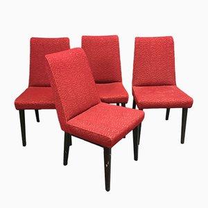 Stühle mit Kompassfüßen, 1970er, 4er Set
