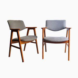 Vintage Eichenholz Armlehnstühle von Erik Kierkgaard, 2er Set