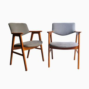 Vintage Oak Armchairs by Erik Kierkgaard, Set of 2