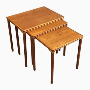 Tables Gigognes en Teck, 1970s