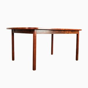 Mid-Century Danish Oval Table in Rosewood