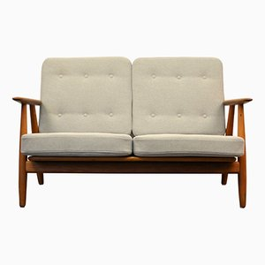 Mid-Century Cigar GE-240 Oak Sofa by Hans J. Wegner for Getama