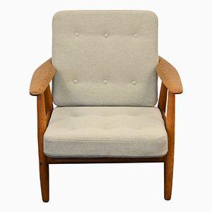 Mid-Century Cigar GE240 Oak Lounge Chair by Hans J. Wegner for Getama