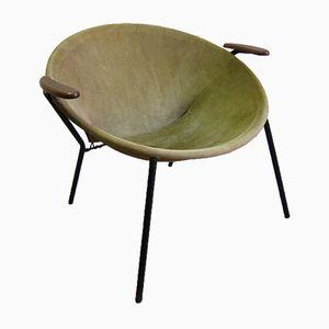Mid-Century Leather Balloon Chair by Hans Olsen
