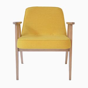 Mid-Century Yellow 366 Armchair by Jozef Marian Chierowski