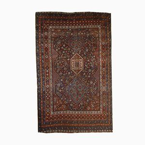 Antique Persian Handmade Khamseh Rug, 1900s