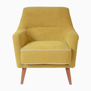 German Yellow Shell Armchair, 1970s