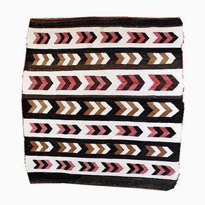 Antique Handmade Native American Navajo Baby Blanket Rug, 1880s