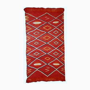Antique Handmade Native American Navajo Rug, 1870s