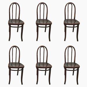 Vintage Bistro Stühle von Thonet, 6er Set