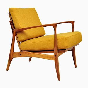 Scandinavian Rosewood Armchair, 1960s