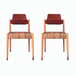 S19 Beistellstühle von Egon Eiermann für Wilde + Spieth, 1950er, 2er Set