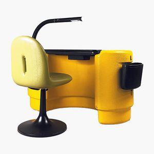 Space Age Hadi Desk & Chair by Ernst Igl for Kauteka, 1970s