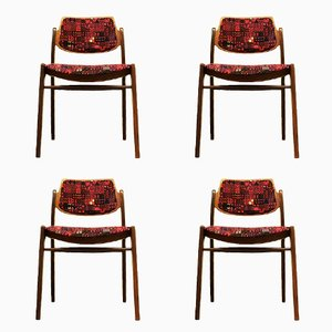 Teak Dining Chairs by Hartmut Lohmeyer for Wilkhahn, 1960s, Set of 4