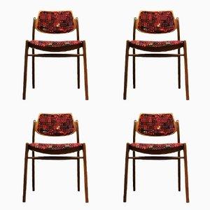 Teak Esszimmerstühle von Hartmut Lohmeyer für Wilkhahn, 1960er, 4er Set