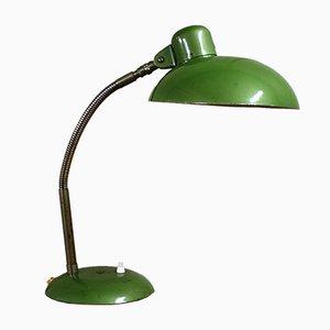 Grüne Deutsche Industrielle Bauhaus Schreibtischlampe von SIS, 1950er