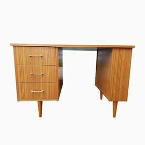 Schreibtisch mit Eichen-Furnier, 1970er
