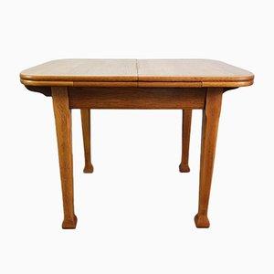 Art Nouveau Oak Extending Dining Table, 1920s