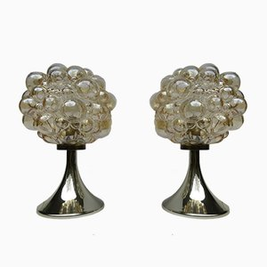 Bubble Glass Table Lamps by Helena Tynell for Limburg, 1960s, Set of 2