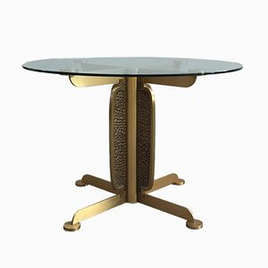 Vintage Round Dining Table by Luciano Frigerio