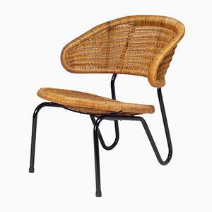Dutch Model 568 Rattan Chair by Dirk Van Sliedregt for Gebr. Jonkers, 1954