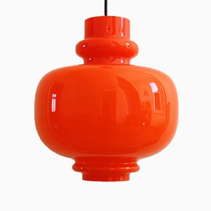 Vintage Space-Age Glass Pendant Lamp from Staff