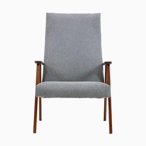 Dänischer Sessel aus Teak mit Hoher Rückenlehne, 1960er