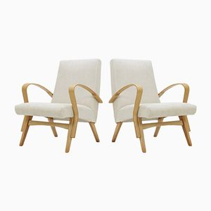 Czechoslovakian Beech Armchairs from Tatra, 1960s, Set of 2