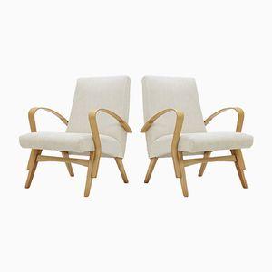 Tschechoslowakische Sessel aus Buche von Tatra, 1960er, 2er Set